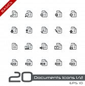 Documents Icons - 1 of 2 // Basics