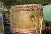 picture of barrel racing  - Drum on Dragon boat in Bangkok Thailand - JPG