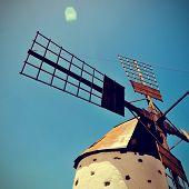 antiguo molino de viento Fuerteventura, Islas Canarias, España