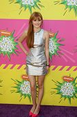 LOS ANGELES - MAR 23:  Bella Thorne arrives at Nickelodeon's 26th Annual Kids' Choice Awards at the