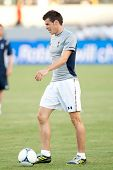 CARSON, CA - JULY 24: Gareth Bale before the Tottenham Hotspur vs Los Angeles Galaxy game on July 24