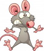 Scared cartoon rat. Vector clip art illustration with simple gradients. All in a single layer.