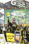 AVONDALE, AZ - MAR 03, 2013:  Carl Edwards (99) ends his losing streak by winning the  Subway Fresh