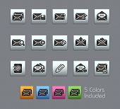 E-mail Icons // Satinbox Series -------It includes 5 color versions for each icon in different layer
