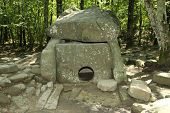 Dolmen in the Krasnodar region.