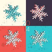 Pop art snowflake illustration