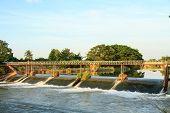 Weir And Bridge