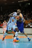 KAPOSVAR, HUNGARY �¢�?�? OCTOBER 26: Wayne Chism (in white) in action at a Hungarian Championshi