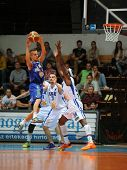 KAPOSVAR, HUNGARY �¢�?�? OCTOBER 26: Wayne Chism (white 34) in action at a Hungarian Championshi