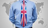 UK flag printed on a necktie