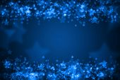 Blue Glowing Bokeh Holiday Background