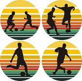 soccer silhouettes on the background