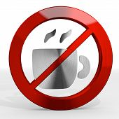 picture of posh  - Dark red posh cup of tea 3d graphic with tea coffee sign not allowed - JPG