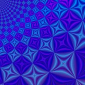 Abstract Blue & Lilac Fractal Rendered Background