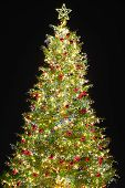 stock photo of x-max  - Christmas tree with decoration - JPG