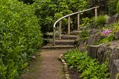 Elgin, stairs to rock garden