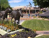 A Horse Sculpture And Old Town Boutiques, Scottsdale, Arizona
