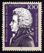 Postage Stamp Germany 1991 Wolfgang Amadeus Mozart, Composer