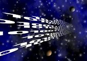 Binary Code In Space