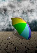 Umbrella And Desert