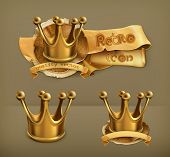 stock photo of emperor  - Gold crown - JPG