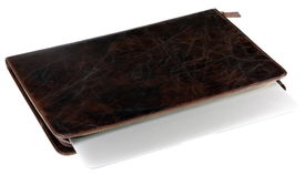 pic of crocodilian  - notebook in leather crocodilian notebook cover isolated - JPG