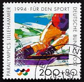 Postage Stamp Germany 1994 Skier