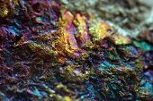 pic of iron pyrite  - Abstract background from a  mineral - JPG