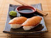Smoked Salmon Sushi Nigiri