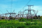 Pylons With Electric Lines