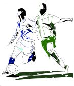 Abstract Footballers
