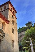 Church Iglesia Durante La Eucarista Alhambra Moon Carrera Del Darro Albaicin Granada Andalusia Spain
