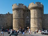 Rhodes City, Greece, Marine Gate