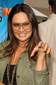 LOS ANGELES - APR 11:  Tia Carrere at the Despicable Me Minion Mayhem  and Super Silly Fun Land at U