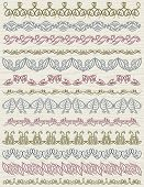 Set Of Lace Paper With Flower, Vector