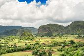 The Vinales Valley in Cuba, famous for its natural beauty and the quality of the tobacco grown in th