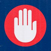 Sign Symbol Concept Hand Palm Demanding Halt Stop