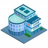 Hospital building isometric