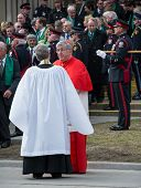 Canadian Cardinal Thomas Collins at Jim Flaherty Funeral in Toronto