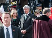 Stephen Harper at Jim Flaherty State Funeral in Toronto, Canada