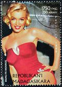 Marilyn Stamp From Madagascar-6