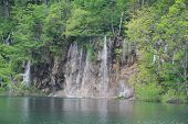 Water flowing in Plitvice lake