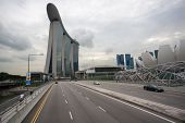 SINGAPORE - NOVEMBER 05, 2012: Marina Bay Sands - one of the most luxurious hotels in the world. The