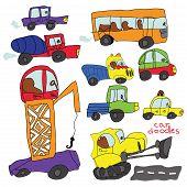 Child's Hand Draw Cars