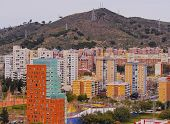 View From Parc Turo In Barcelona