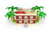 3d hotel in the tropics