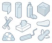 picture of tampon  - Products from paper and cottonand  wool - JPG
