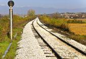 Railroad at the Greek-Bulgarian borders at Promahon, Europe