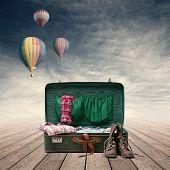 Explorer's Vintage Suitcase