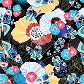 Colorful Abstract Pattern And Butterflies